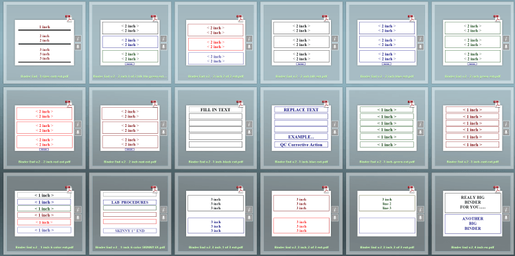 free binder cover and spine templates