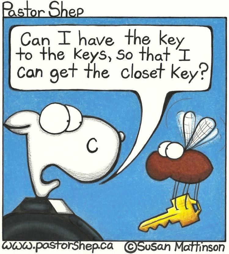 keys to closet keys church security pastor shep christian cartoon